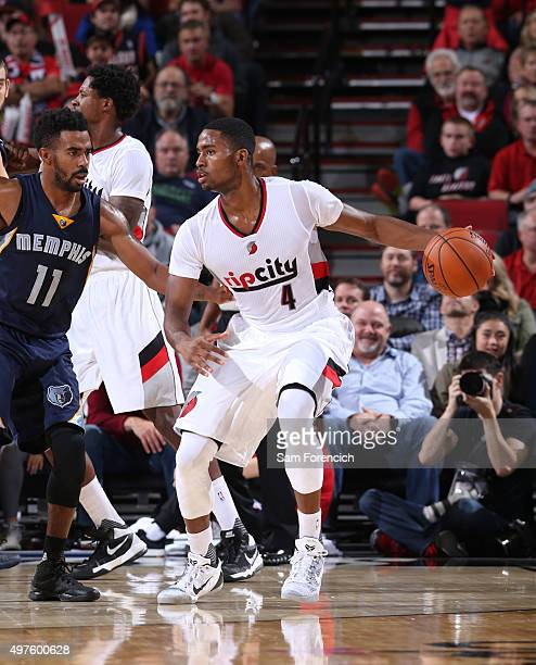 Maurice Harkless of the Portland Trail Blazers handles the ball during the game on November 5 2015 at the Moda Center Arena in Portland Oregon NOTE...
