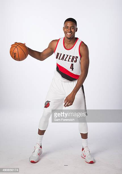 Maurice Harkless of the Portland Trail Blazers poses for photos during the annual Media Day September 28 2015 at the Moda Center in Portland Oregon...