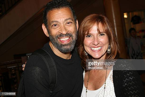 Maurice Hines and Judge Marilyn Milian during Judge Marilyn Milian of The Peoples Court visits Hot Feet on Broadway at The Hilton Theater in New York...