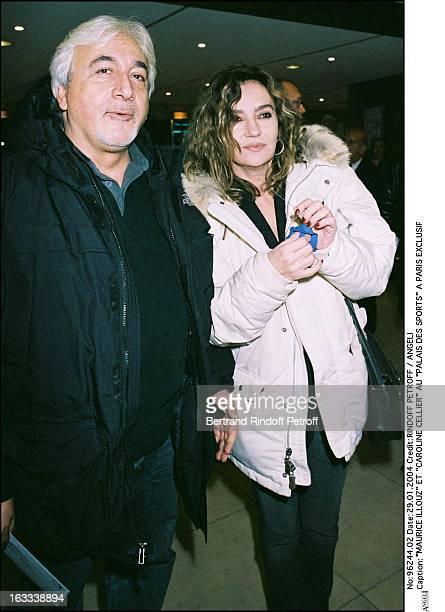 Maurice Illouz and Caroline Cellier Au Palais Des Sports A Paris