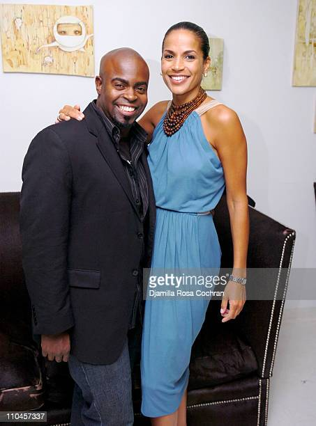 Maurice Jamal and Crystal McCrary Anthony during Dirty Laundry Screening at the Soho House June 8 2006 at Soho House in New York City New York United...