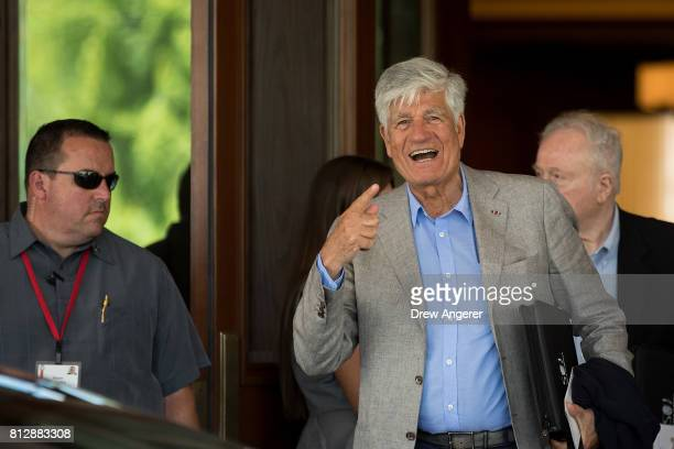 Maurice Levy a Moroccan French businessman and former chief executive officer of the advertising agency Publicis attends the first day of the annual...