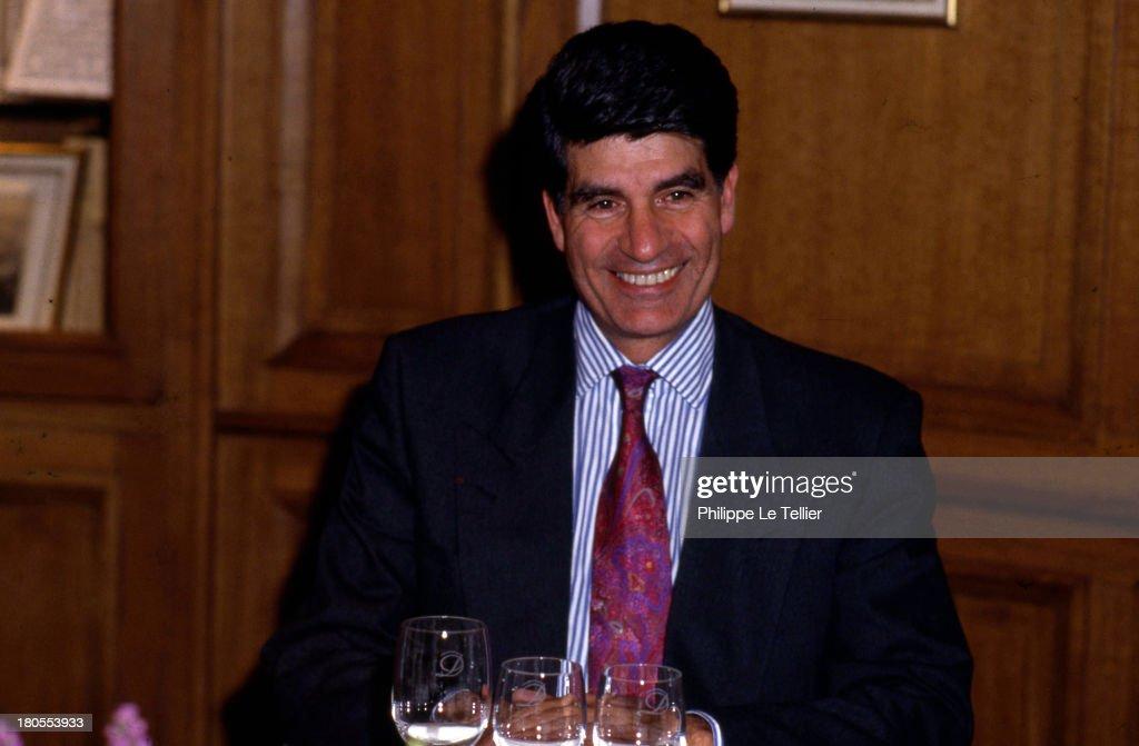 Maurice Levy, CEO of Publicis, 1989, France ; Maurice Levy, patron de Publicis, 1989, France,