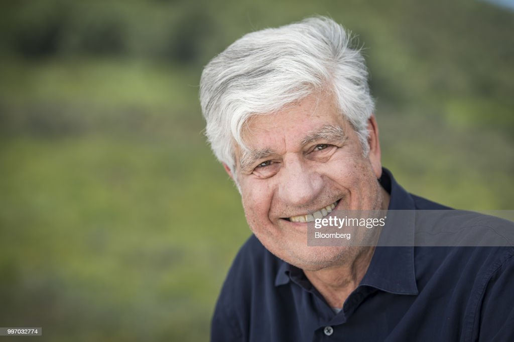 Maurice Levy, chairman of the supervisory board of Publicis Groupe SA, sits for a photograph after a Bloomberg Television interview at the Allen & Co. Media and Technology Conference in Sun Valley, Idaho, U.S., on Wednesday, July 11, 2018. Levy discussed the future of advertising. Photographer: David Paul Morris/Bloomberg via Getty Images