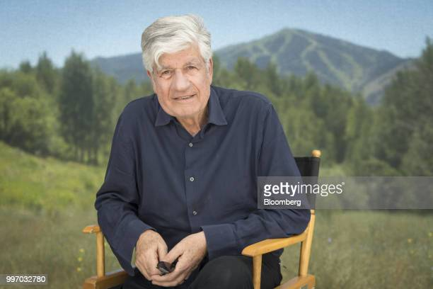 Maurice Levy chairman of the supervisory board of Publicis Groupe SA sits for a photograph after a Bloomberg Television interview at the Allen Co...
