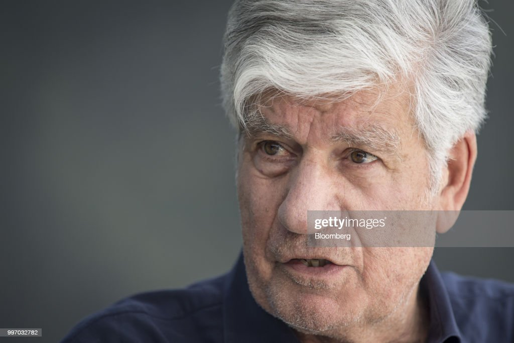 Maurice Levy, chairman of the supervisory board of Publicis Groupe SA, speaks during a Bloomberg Television interview at the Allen & Co. Media and Technology Conference in Sun Valley, Idaho, U.S., on Wednesday, July 11, 2018. Levy discussed the future of advertising. Photographer: David Paul Morris/Bloomberg via Getty Images