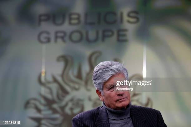 Maurice Levy, chief executive officer of Publicis Groupe SA, pauses during a Bloomberg Television interview in London, U.K., on Friday, Nov. 30,...