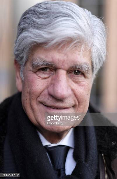 Maurice Levy chief executive officer of Publicis Groupe SA poses for a photograph following a Bloomberg Television interview on the 'Leaders Lunch'...