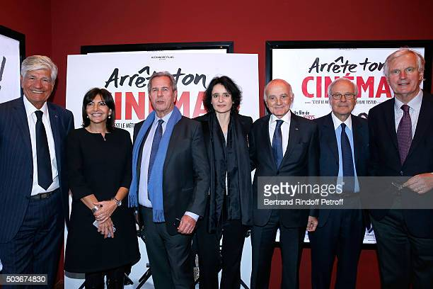 Maurice Levy Mayor of Paris Anne Hidalgo JeanLouis Debre Valerie Bochenek Professor Gerard Saillant Baron David de Rothschild and Michel Barnier...