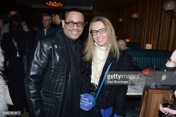 Maurice Lynch and Carol Dietz attend MAC Nordstrom And The CFDA Host The After Party For The Times Of Bill Cunningham at Bistrot Leo on February 13...