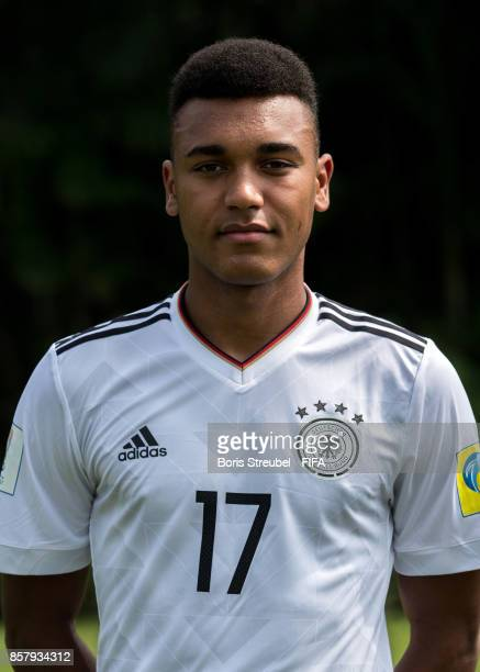 Maurice Malone of Germany pose ahead of the FIFA U17 World Cup India 2017 tournament at Park Hyatt Goa Resort on October 5 2017 in Goa India