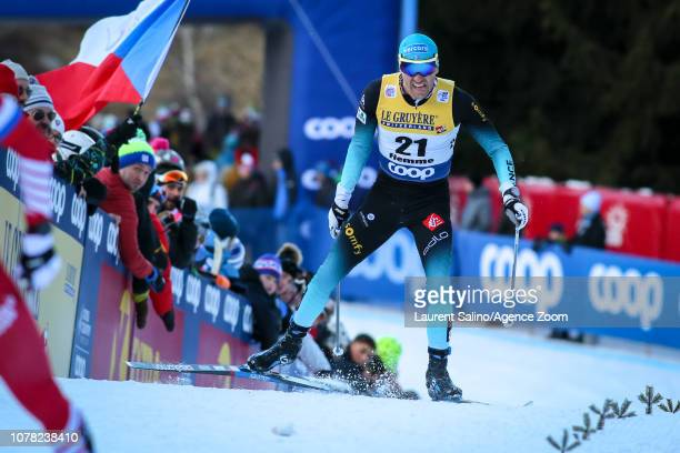 Maurice Manificat of France competes during the FIS Nordic World Cup Men's and Women's Cross Country Final Climb on January 6, 2019 in Val Di Fiemme,...
