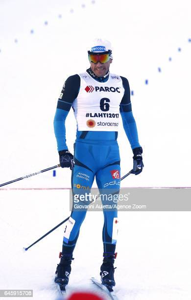 Maurice Manificat of France competes during the FIS Nordic World Ski Championships Men's and Women's Cross Country Skiathlon on February 25 2017 in...
