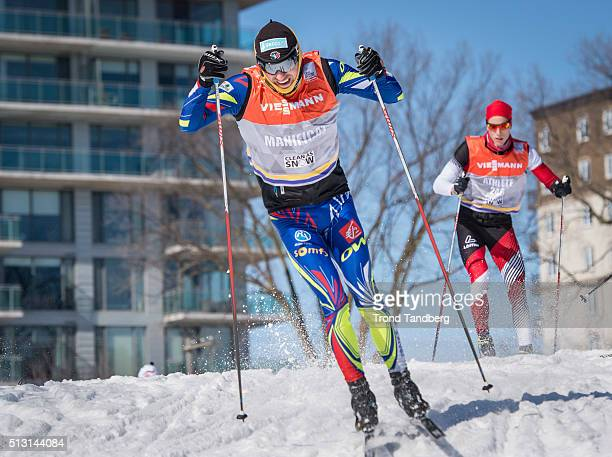 Maurice Manificat of France during training Cross Country Sprint on February 29 2016 in GatineauQuebecCanada
