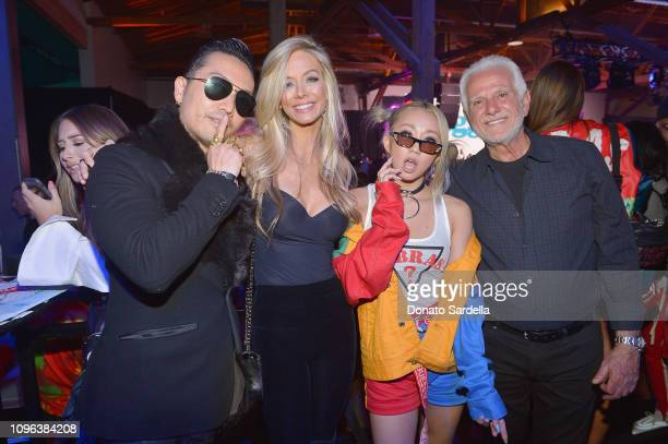 Maurice Marciano and guests attend GUESS x J Balvin launch party on February 8 2019 in Los Angeles California