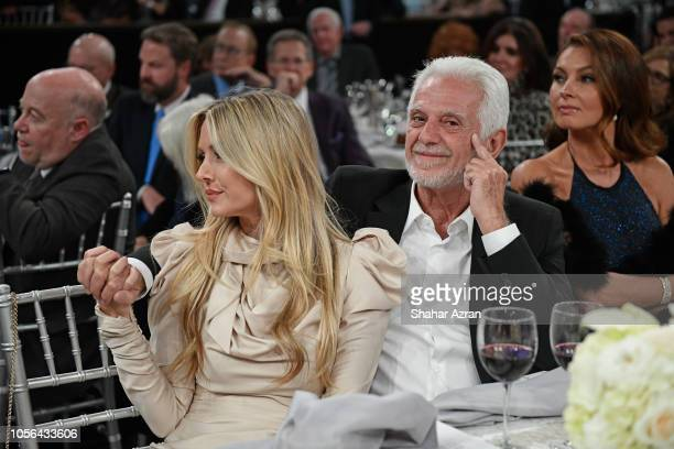 Maurice Marciano and Nicole Frank attends Friends of The Israel Defense Forces Western Region Gala at The Beverly Hilton Hotel on November 1 2018 in...