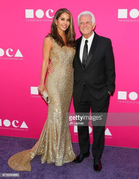 Maurice Marciano and Vaitiare Hirshon attend the MOCA Gala 2017 on April 29 2017 in Los Angeles California