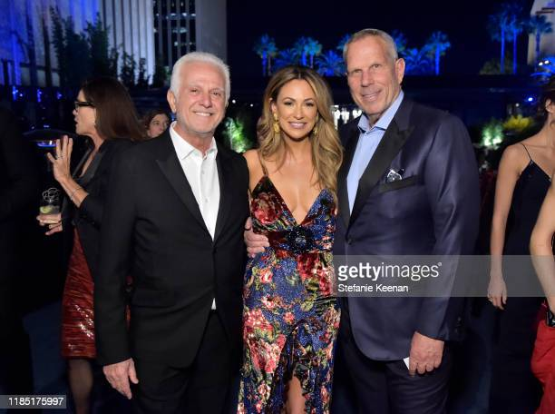 Maurice Marciano Dana Norris and LACMA Trustee Steve Tisch attend the 2019 LACMA Art Film Gala Presented By Gucci at LACMA on November 02 2019 in Los...