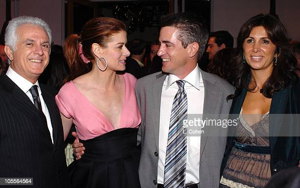 Maurice Marciano Debra Messing Dermot Mulroney and Nathalie Marciano