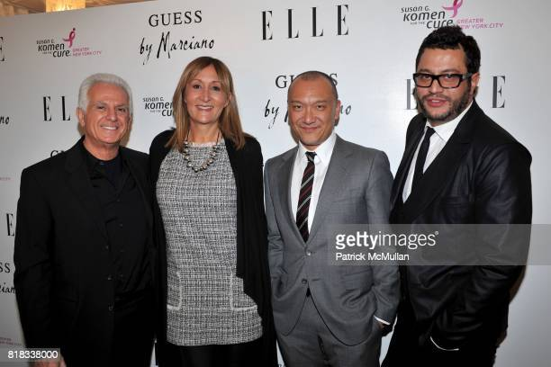 Maurice Marciano Mary Jimenez Joe Zee and Alejandro Blanco attend BENEFIT COCKTAIL PARTY with ELLE MAGAZINE GUESS BY MARCIANO at Guess by Marciano on...