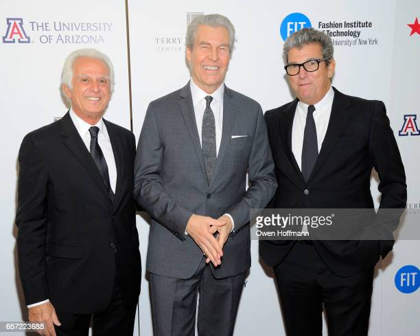 Maurice Marciano Terry Lundgren and Andrew Rosen attend Fashion Institute Of Technology 2017 Gala at Marriott Marquis on March 22 2017 in New York...