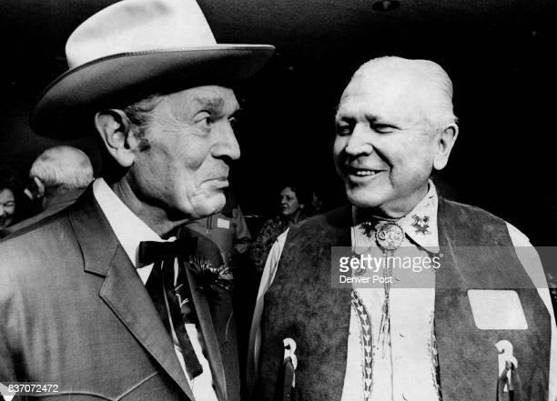 Maurice Mitchell emcee and Francis Van Derbur Credit Denver Post
