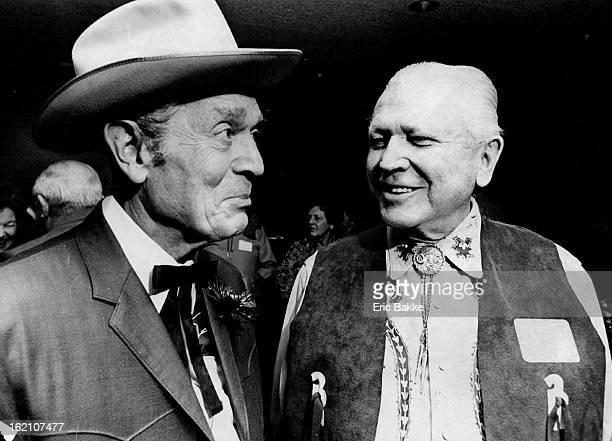 JAN 12 1981 JAN 13 1981 Maurice Mitchell emcee and Francis Van Derbur