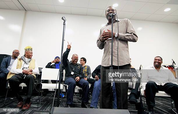 Maurice Moe Shorter chairman of the GoGo Coalition and a member of the board of the Washington Area Music Association speaks along with other...