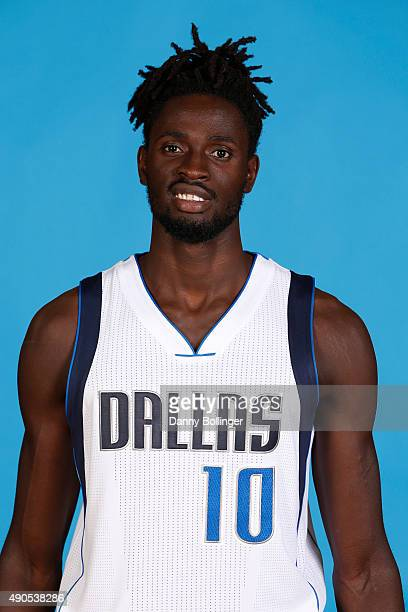 Maurice Ndour of the Dallas Mavericks poses for a head shot during Media Day on September 28 2015 at the American Airlines Center in Dallas Texas...