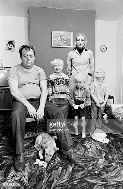 Maurice Newton and his family Steven Anthony Christopher and Helen at home during the miners' strike Newton was on strike in 1972 and 1974 and had...