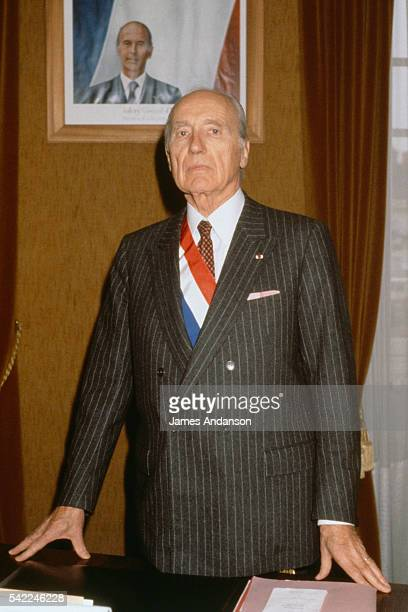 Maurice Papon Mayor of the town of StAmandMontrond and Budget Minister in the 3rd government of Raymond Barre under the Valery Giscard d'Estaing...