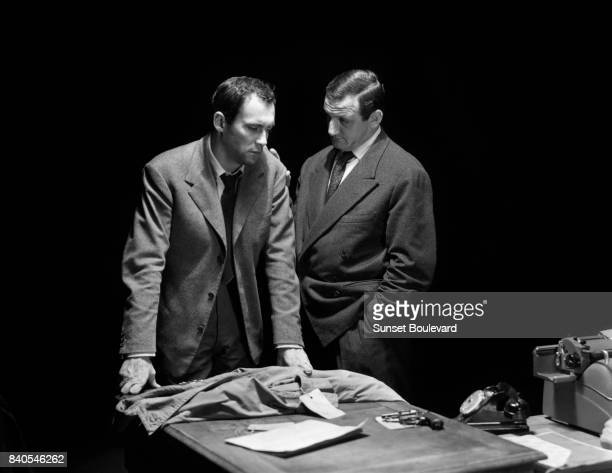 Maurice Ronet and Lino Ventura in 'Lift to the Scaffold' directed by Louis Malle