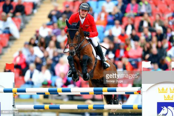 Maurice Tebbel Chaccos' Son during Nations Cup First Round of the Equestrian European Championships on August 24 2017 in Gothenburg Sweden