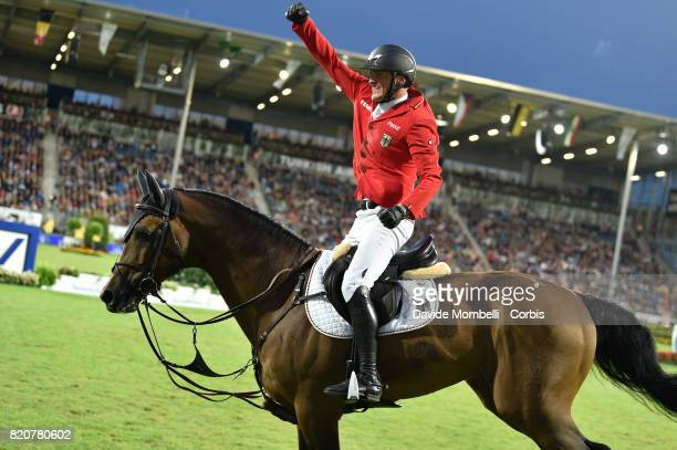 Maurice Tebbel of Germany riding Chaccos' Son during CHIO MercedesBenz Nations Cup on July 20 2017 in Aachen Germany