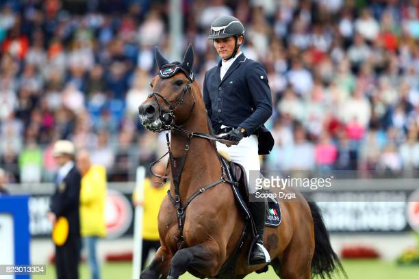 Maurice TEBBEL riding CHACCOS'SON during the Rolex Grand Prix part of the Rolex Grand Slam of Show Jumping of the World Equestrian Festival on July...