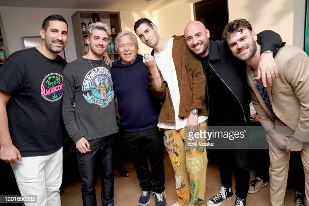 Maurice Tebele Andrew Taggart Robert Kraft Elliot Tebele Martin Hoffstein and Alex Pall as JAJA Tequila Presents The Party For No Reason on January...