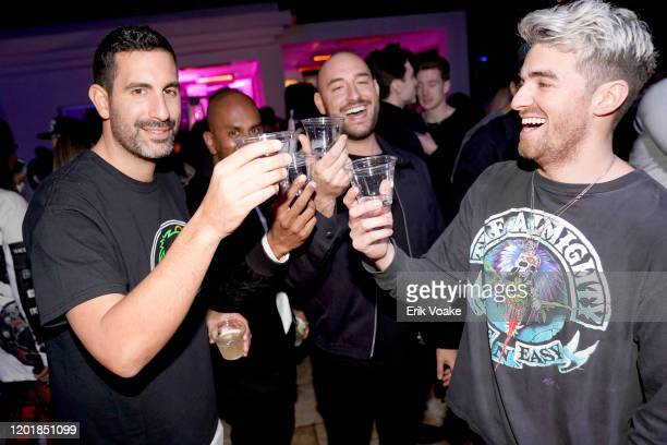 Maurice Tebele Martin Hoffstein and Andrew Taggart as JAJA Tequila Presents The Party For No Reason on January 24 2020 in Los Angeles California