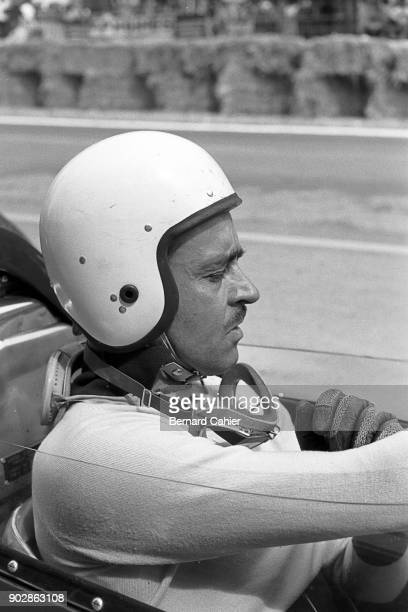 Maurice Trintignant LotusClimax 24 Grand Prix of France RouenLesEssarts 08 July 1962