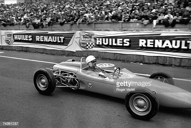 Maurice Trintignant of France at the wheel of a singleseater during the 24 Hours race of Le Mans at Circuit de la Sarthe on June 18 1966 in Le Mans...