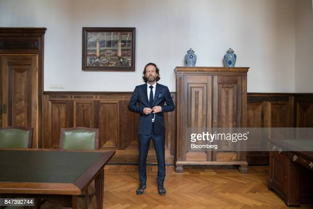 Maurice van Tilburg chief executive officer of Euronext NV Amsterdam poses for a photograph inside the Amsterdam Stock Exchange operated by Euronext...