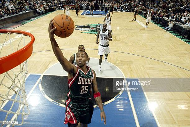 Maurice Williams of the Milwaukee Bucks shoots a layup against the Minnesota Timberwolves during the game on December 22 2006 at the Target Center in...