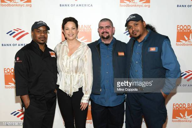 Maurice Young Ellie Krieger Waldo Marrero and Johnny Rivera attend the Food Bank For New York City CanDo Awards Dinner at Cipriani Wall Street on...