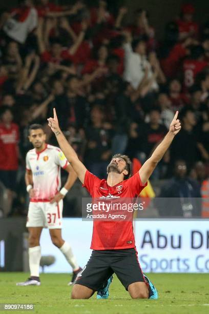 Mauricio Antonio of Urawa Red Diamonds celebrates after scoring a goal during 2017 FIFA Club World Cup match between Wydad Casablanca and Urawa Red...