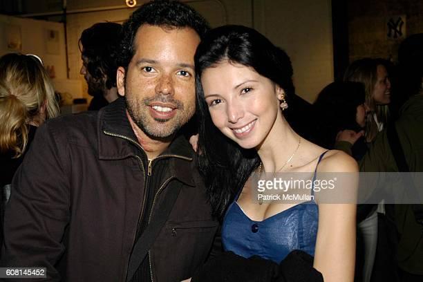 Mauricio Arcas and Karen Soto attend Art Show for Andrew Castrucci Hosted by Carlo von Zeitschel at Home of Carlo von Zeitschel on April 20 2007 in...