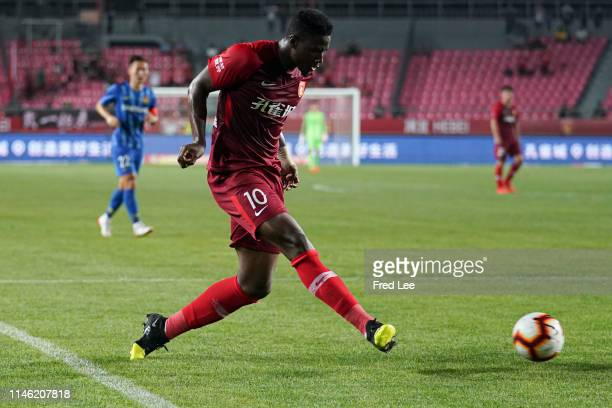 Mauricio Azevedo Alves of Hebei China Fortune in action during 2019 China Super League between Hebei China Fortune and Jiangsu Suningi at Langfang...