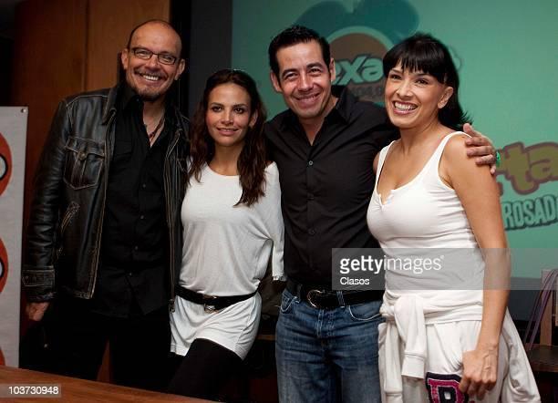 Mauricio Castillo Fabiola Campomanes Jordi Rosado and Dalila Polanco during a press conference on the new radio show Despierta Mi Bien Despierta at...