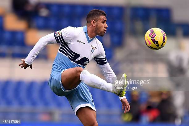 Mauricio Dos Santos of Lazio in action during the Serie A match between SS Lazio and US Citta di Palermo at Stadio Olimpico on February 22 2015 in...