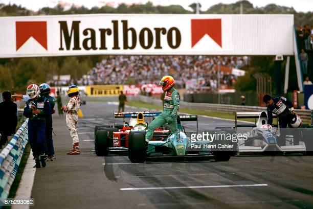 Mauricio Gugelmin, Nelson Piquet, Jean Alesi, Michele Alboreto, Leyton House-Judd CG901, Tyrrel-Ford 019, Grand Prix of Portugal, Autodromo do...