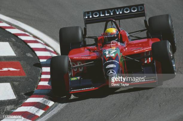 Mauricio Gugelmin of Brazil drives the Hollywood PacWest Reynard 99i Mercedes-Benz during practice for the Championship Auto Racing Teams 1999 FedEx...
