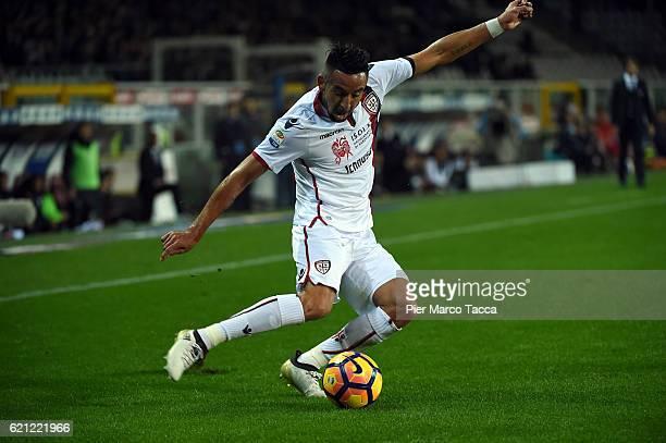 Mauricio Isla of Cagliari Calcio in action during the Serie A match between FC Torino and Cagliari Calcio at Stadio Olimpico di Torino on November 5...